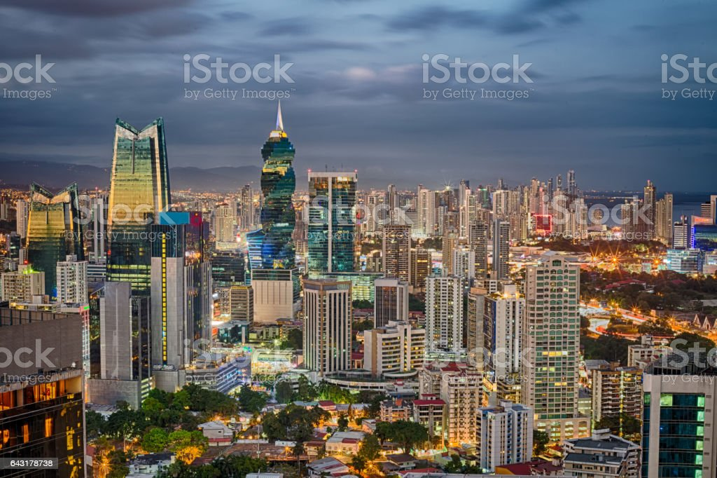 Panama Financial Center stock photo
