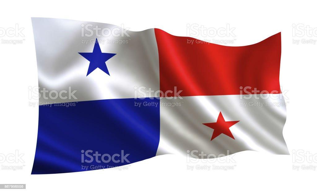 Bandeira do Panamá. Uma série de