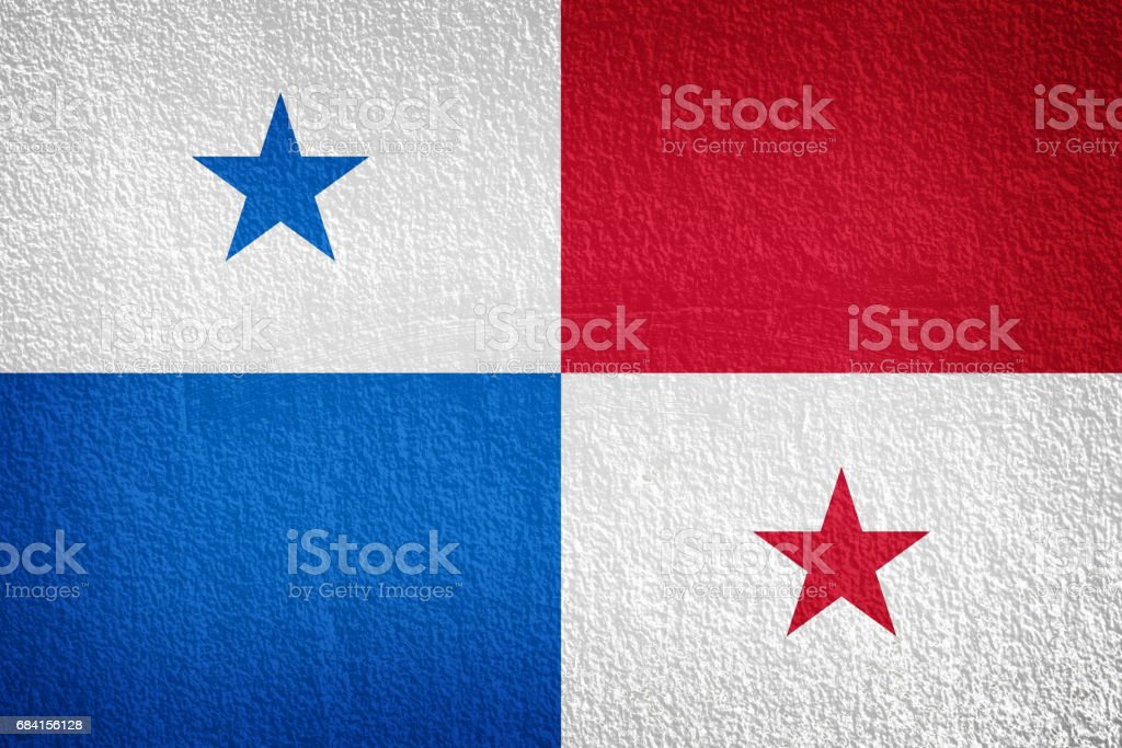 Panama flag painted on grunge wall zbiór zdjęć royalty-free