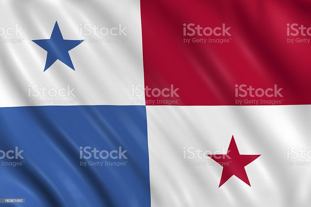 panama flag royalty-free stock photo
