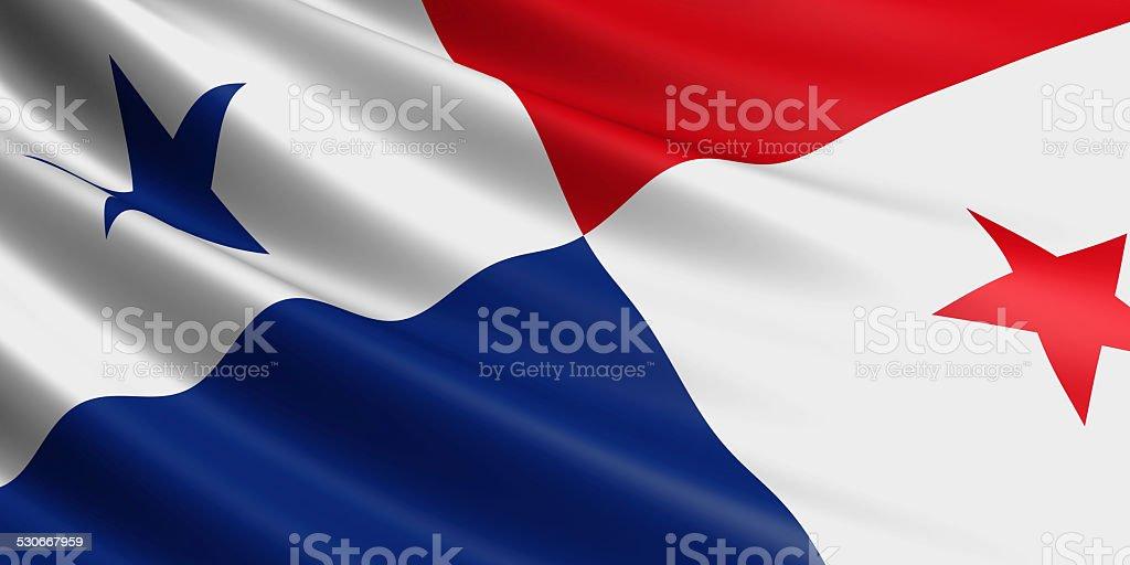 Bandeira do Panamá. - foto de acervo
