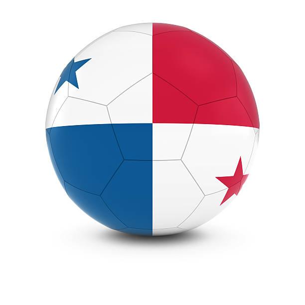 Cтоковое фото Панама футбол — Панамский Флаг на футбольном мяче