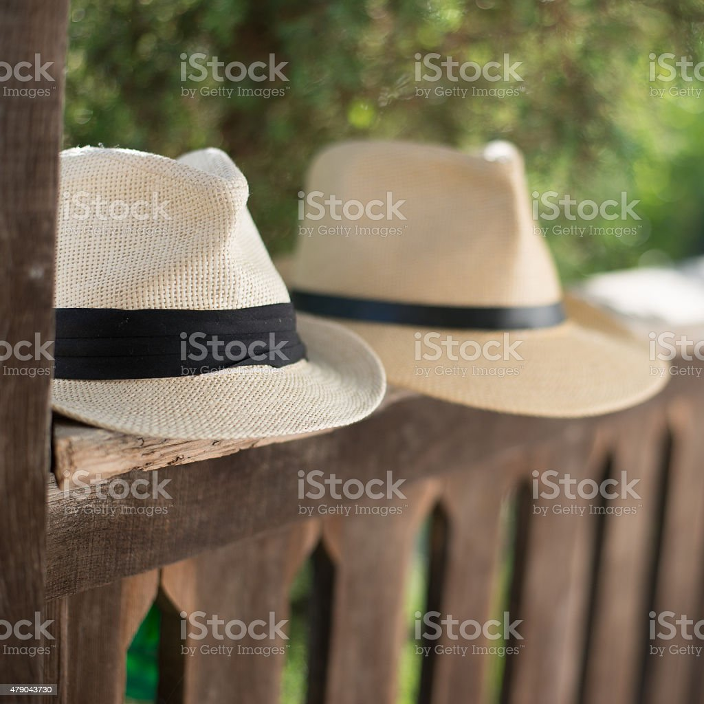 Panama hat stock photo