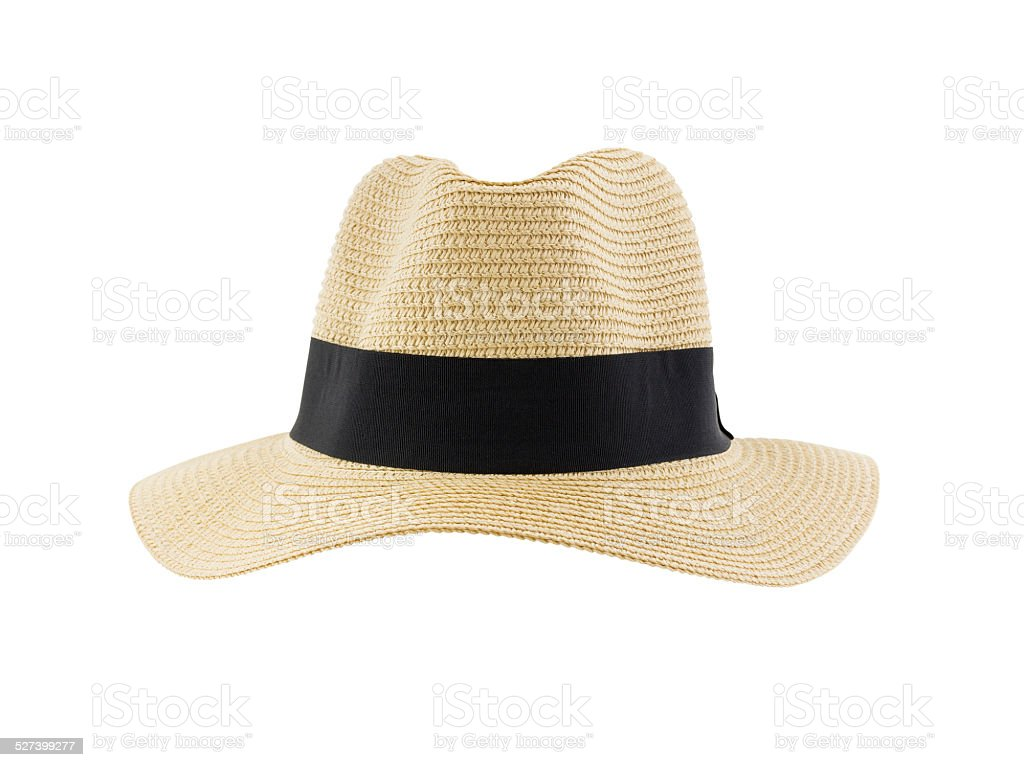 Panama hat isolated on white background stock photo