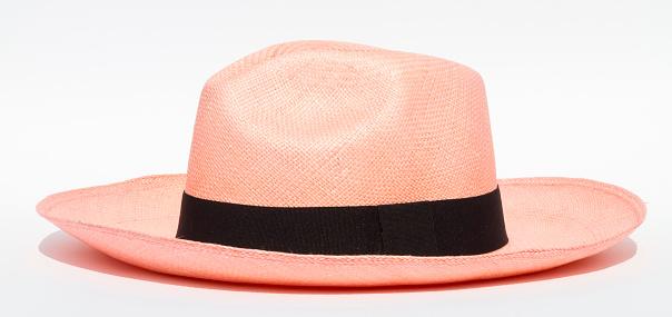 Panama hat on white background.