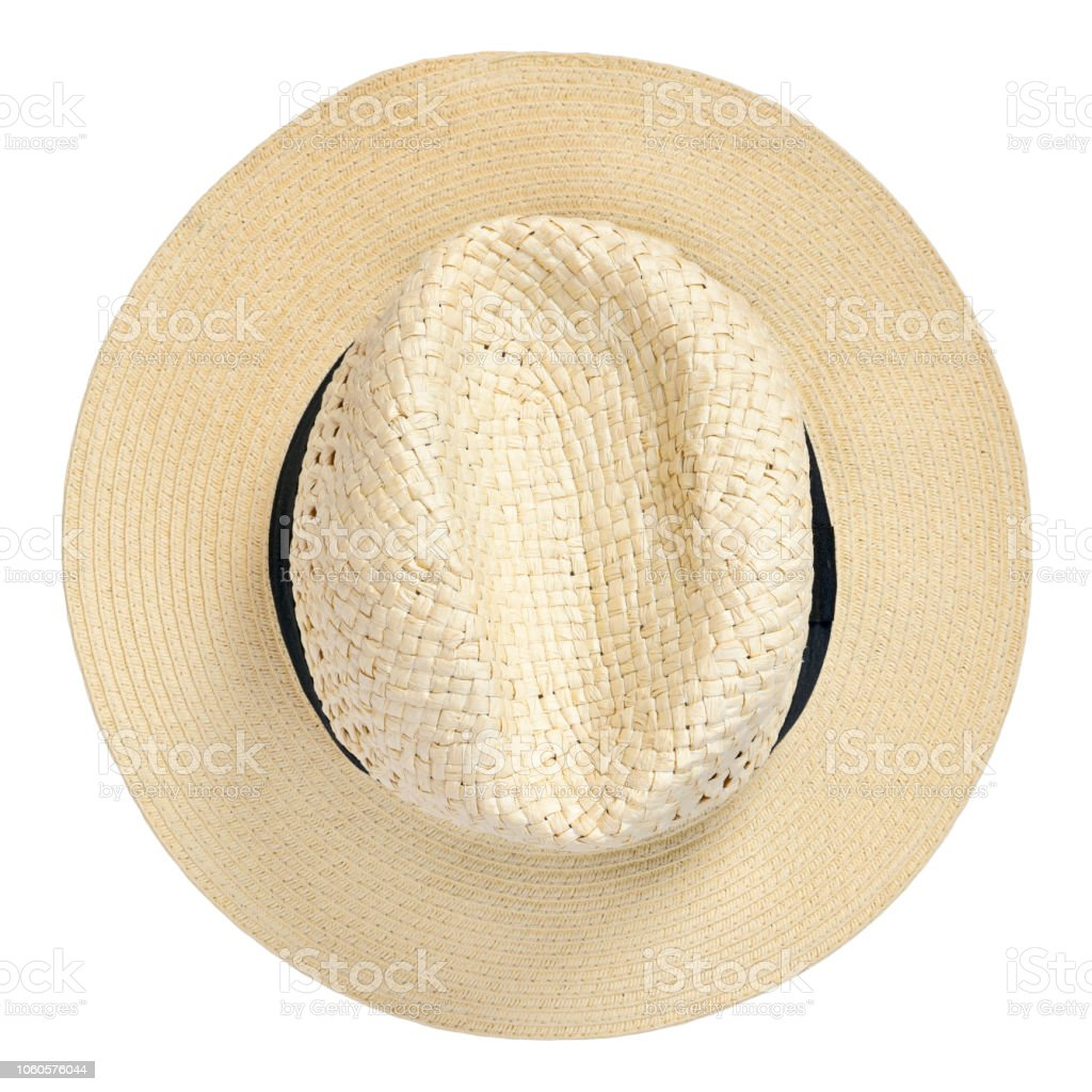 3e62385974cee Panama hat, traditional summer hat with black hatband royalty-free stock  photo