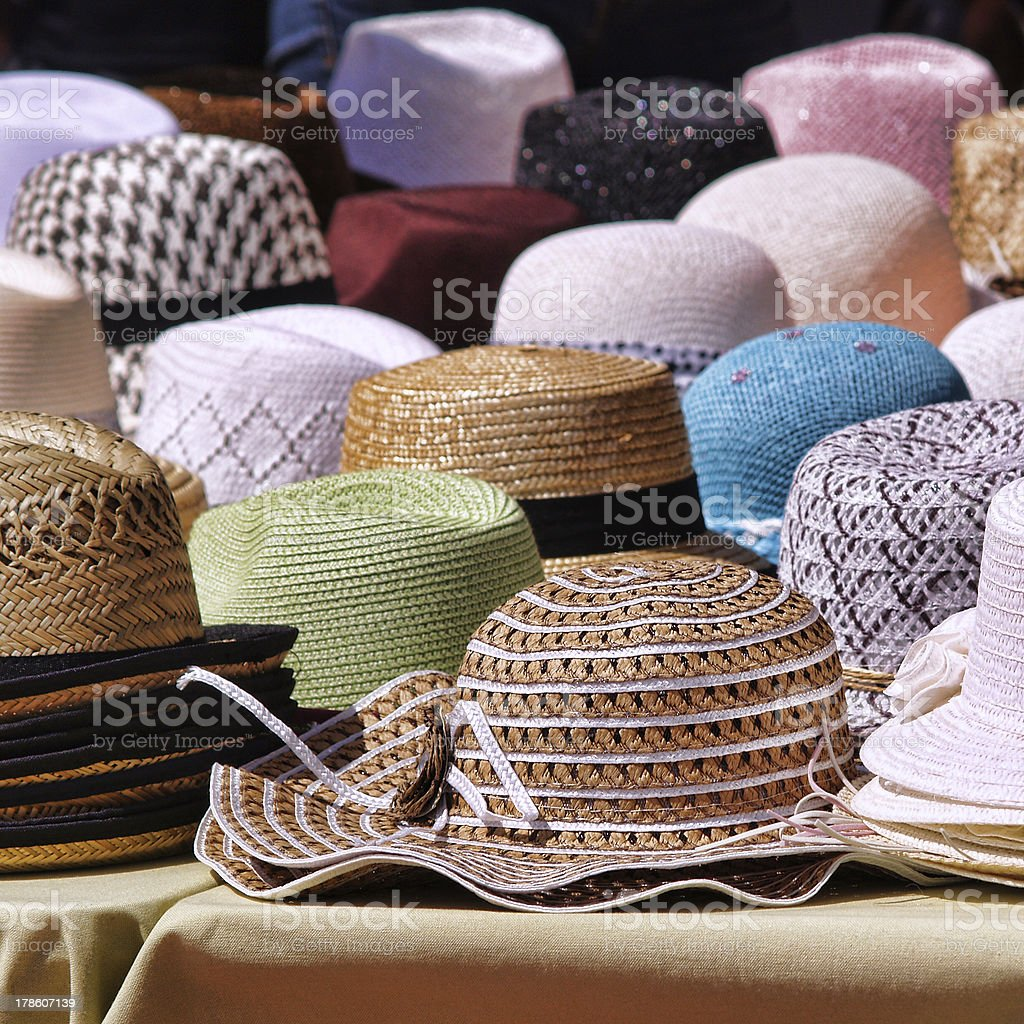 Panama hats royalty-free stock photo