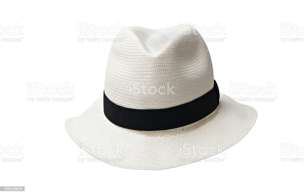 panama straw hat stock photo