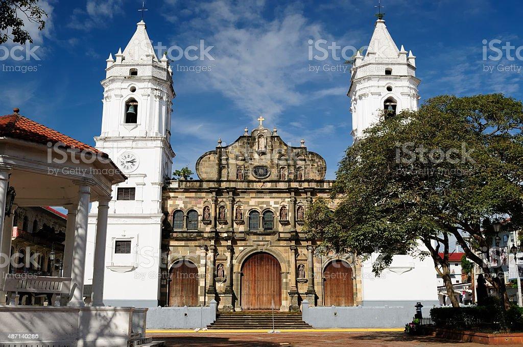 Panama, View on the colonial Panama city stock photo