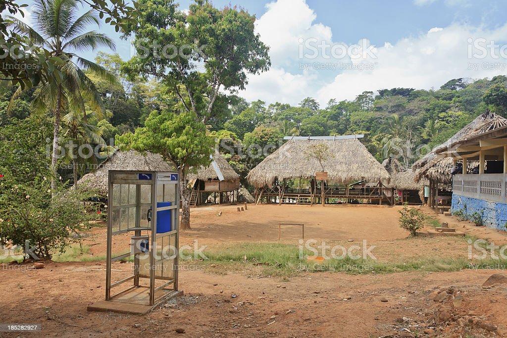 Panama: Village Square of the Embera People stock photo