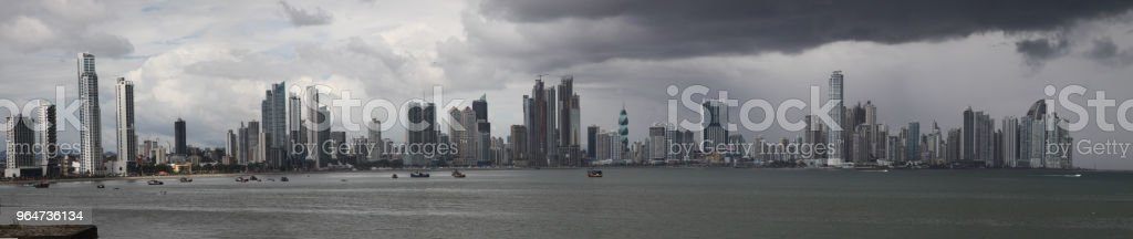 Panama-city, Panama. Panorama royalty-free stock photo