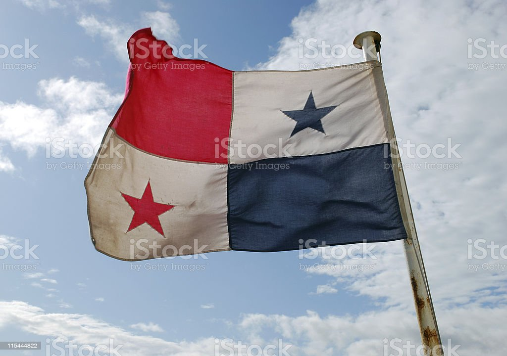 Bandeira Panamense - foto de acervo