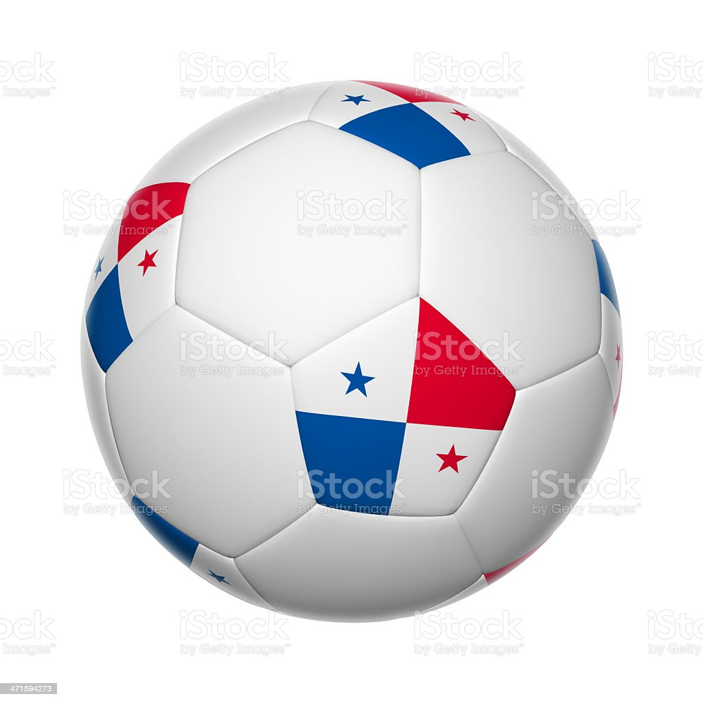Panamanian soccer ball stock photo