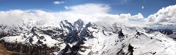 Panaorma of the alps in switzerland stock photo