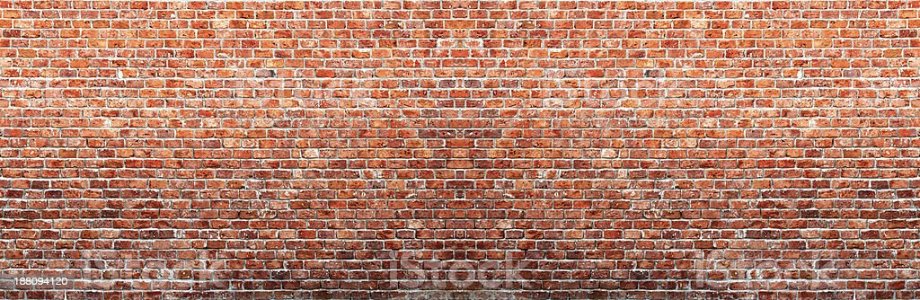 Panaroma Brick Wall stock photo