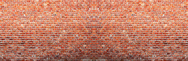 Panaroma Brick Wall stock photo