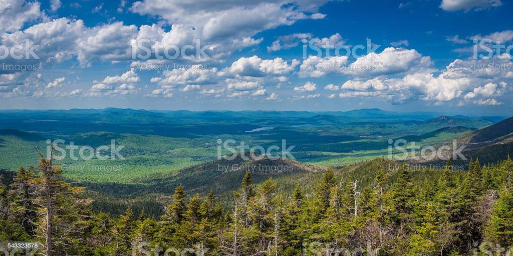 Panaroma of Adirondack Mountains stock photo