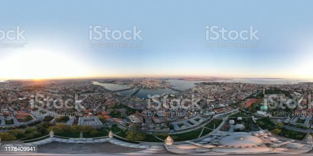 Panaromic aerial view of istanbul at sunset picture id1178409941?b=1&k=6&m=1178409941&s=612x612&h=upggdn0vmvrfbefylmextcso6jzxoipk dd6ku1paai=