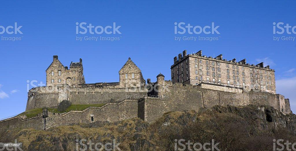 Panaromic view of the Edinburgh Castle, Scotland royalty-free stock photo