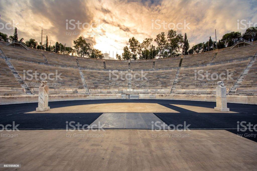 Panathenaic stadium in Athens, Greece stock photo