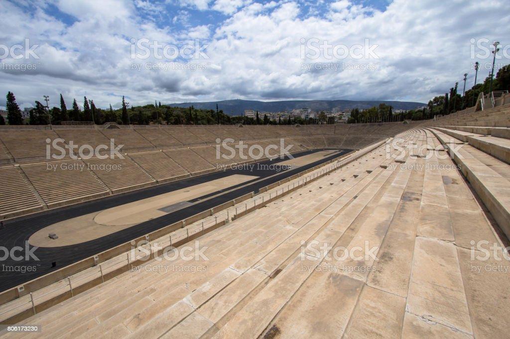 Panathenaic stadium or kallimarmaro in Athens stock photo