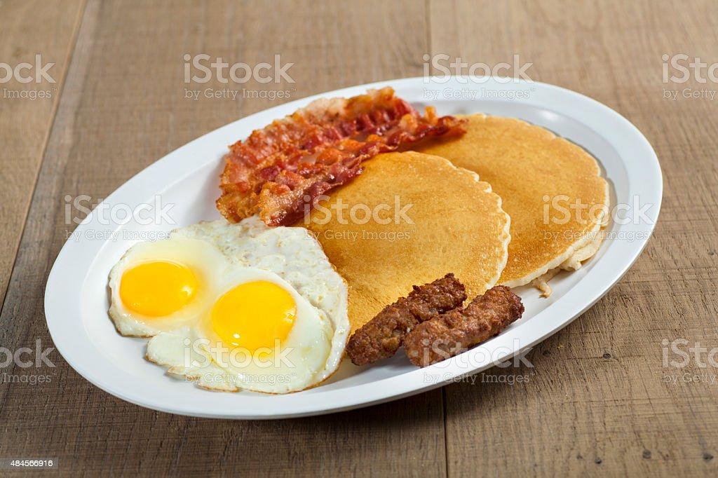 Pancake & Egg Breakfast stock photo