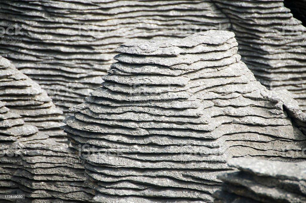 Pancake Rocks Detail stock photo