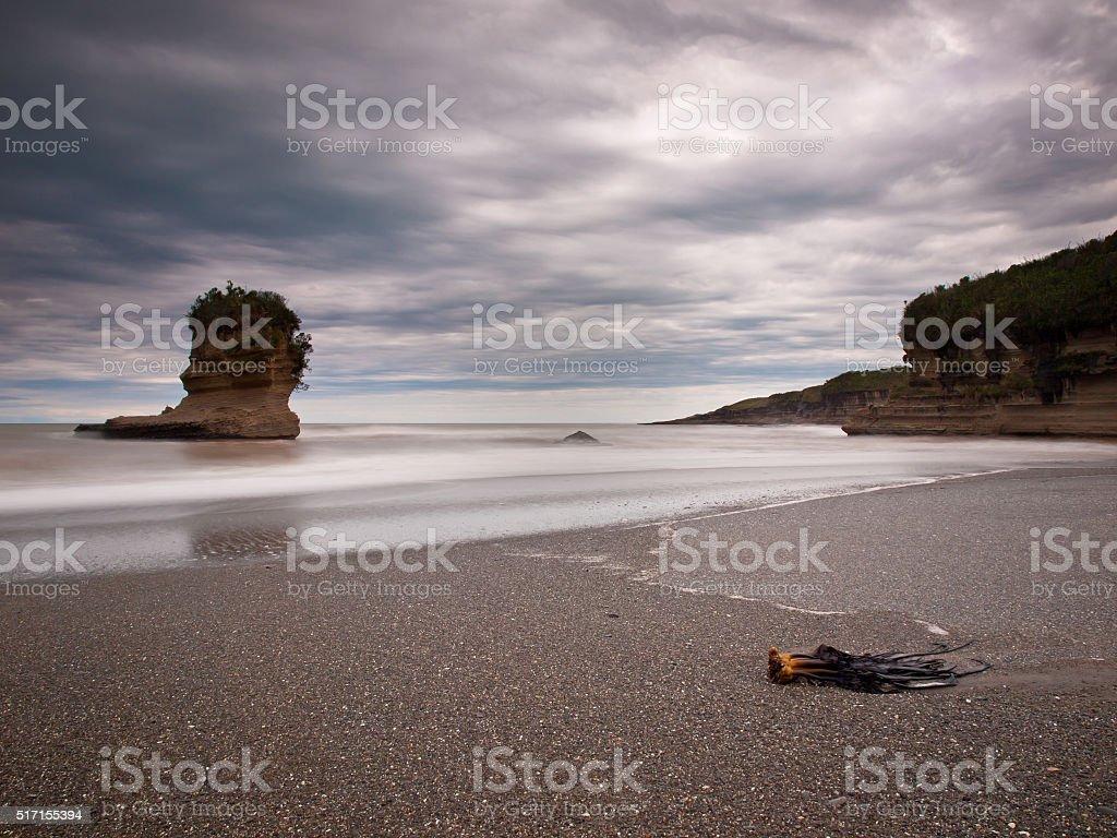 Pancake Rocks Greymouth New Zealand stock photo