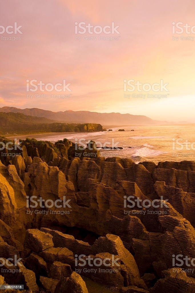 Pancake Rocks New Zealand stock photo