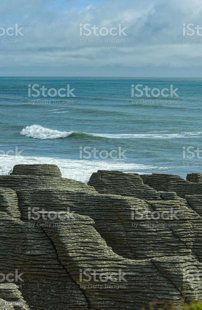 Pancake Rocks of Punakaiki, New Zealand stock photo