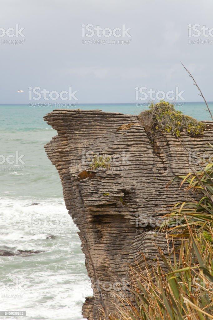 Pancake Rocks, Paparoa National Park in New Zealand stock photo
