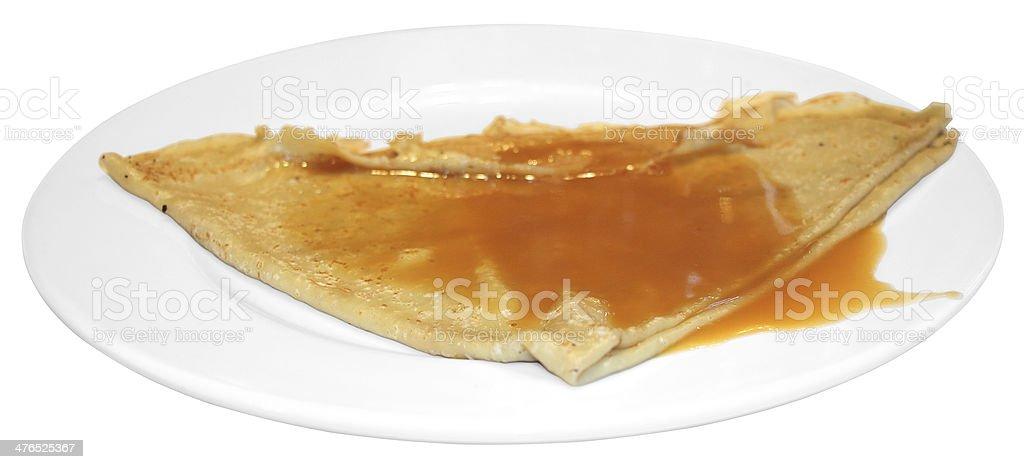 pancake with caramel royalty-free stock photo