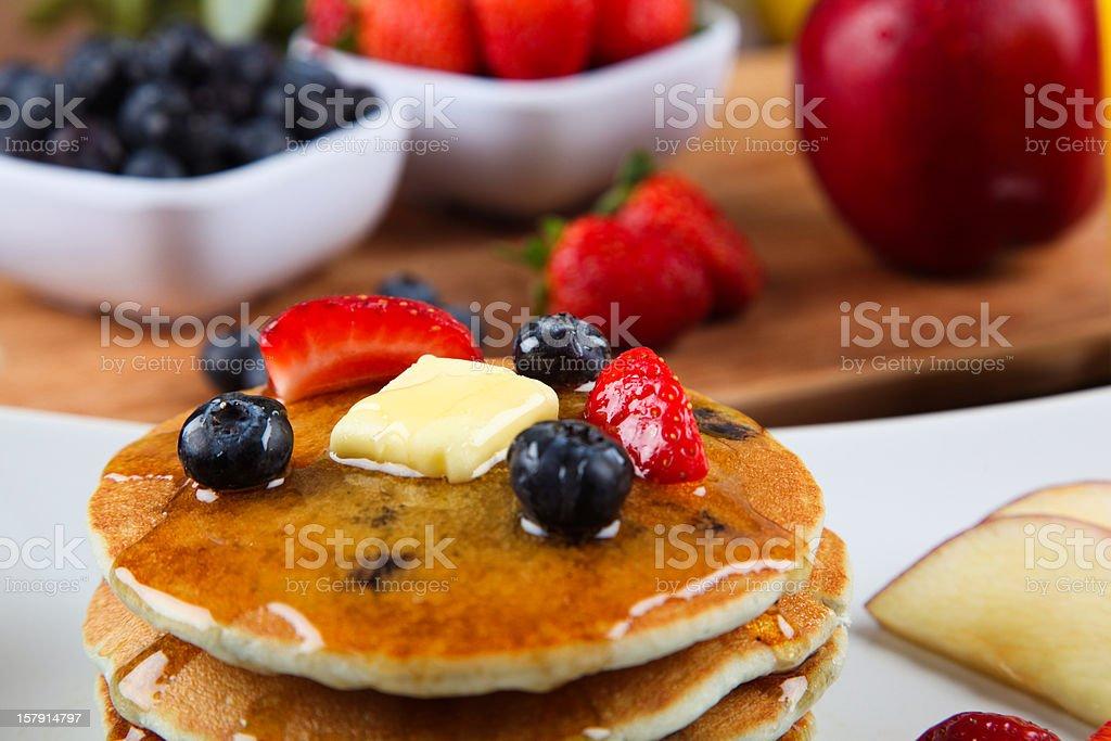 Pancake with fresh fruit royalty-free stock photo