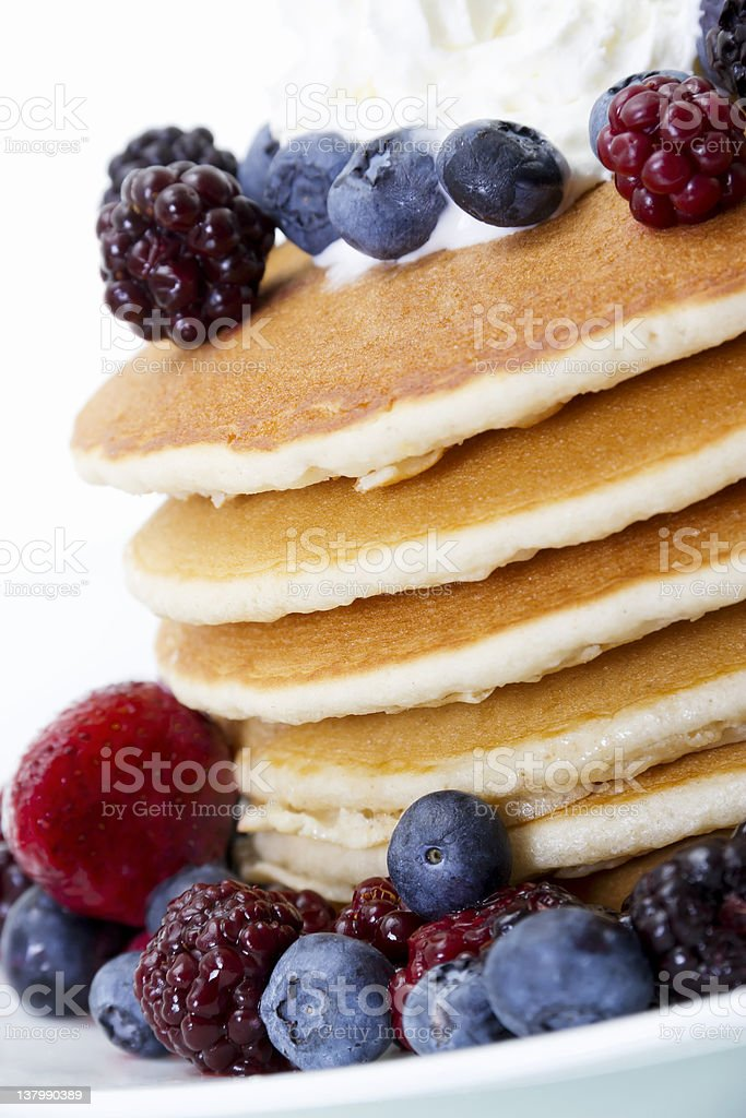 Pancakes and Berries royalty-free stock photo