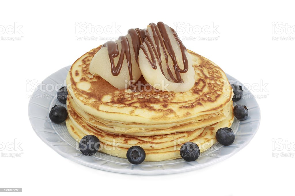 pancakes and fruits royalty-free stock photo