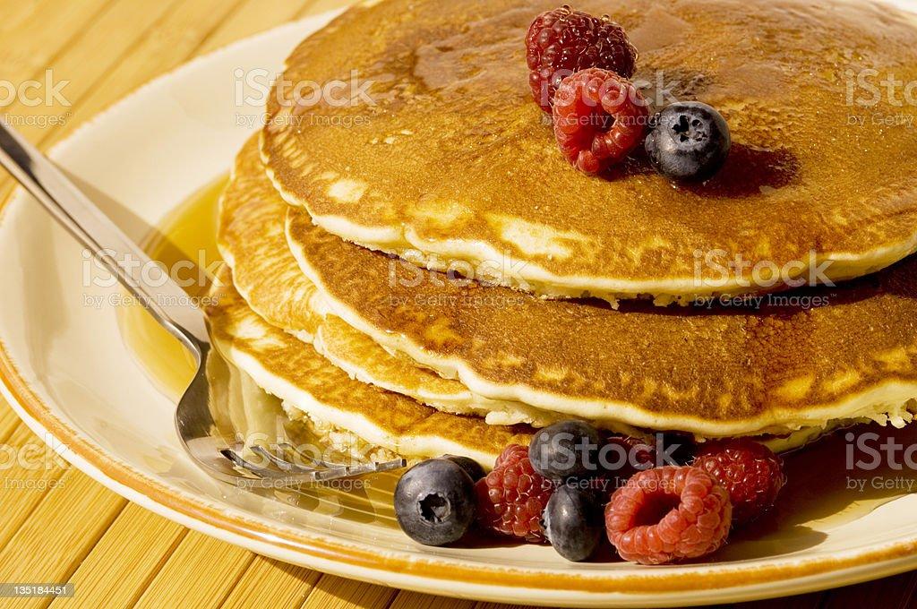 Pancakes & Berries royalty-free stock photo