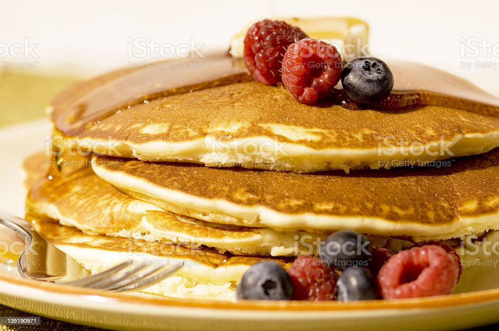 Pancakes & Berries royalty-free stock photo