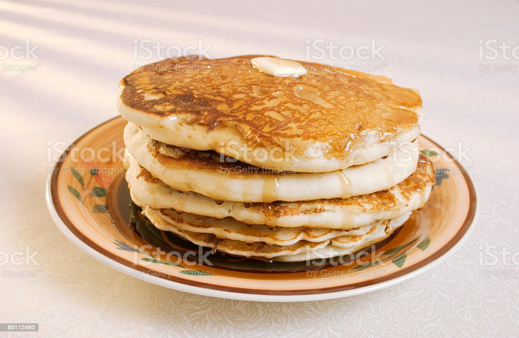 Pancakes Butter and Syrup - Royalty-free Damla Stok görsel