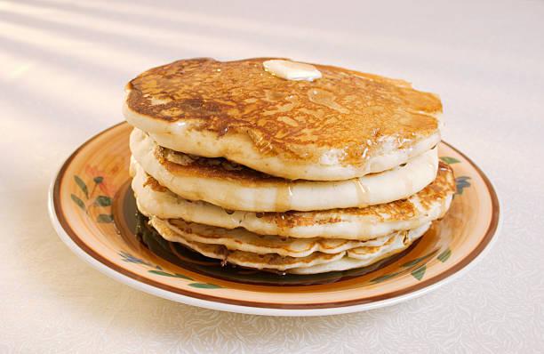 Pancakes Butter and Syrup stok fotoğrafı