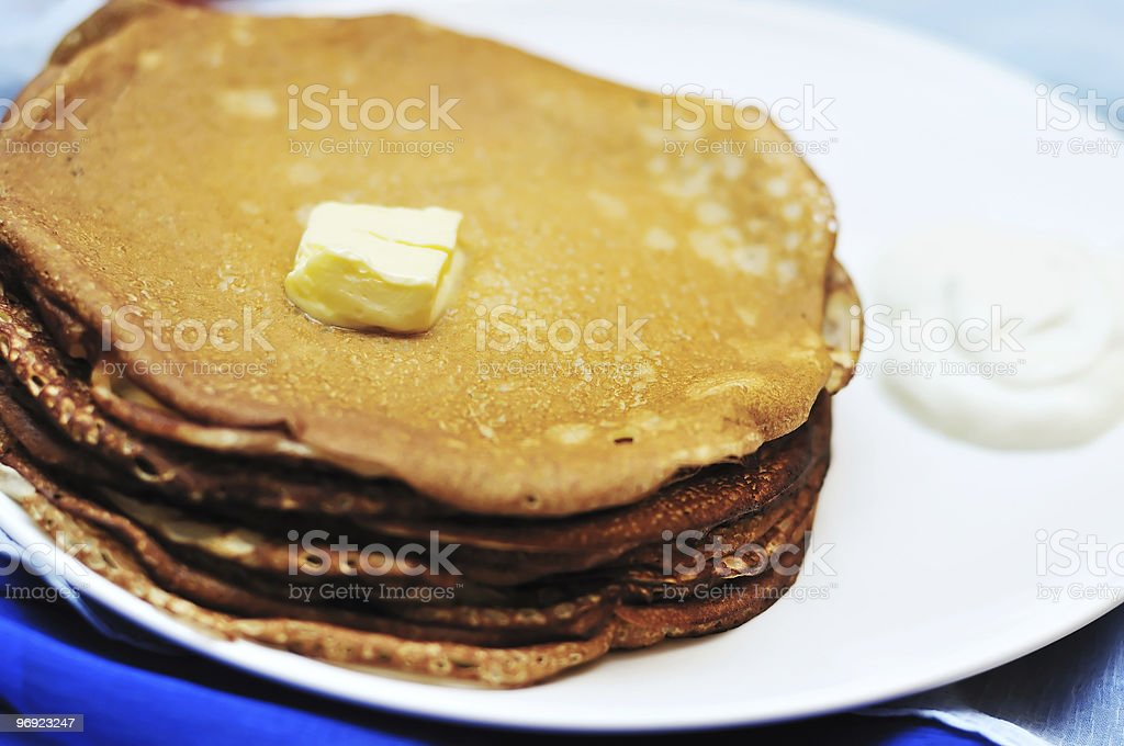 pancakes - food for shrovetide royalty-free stock photo