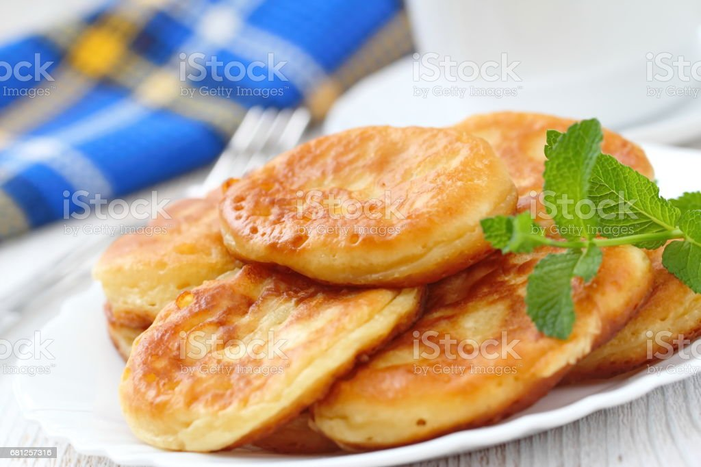 Pancakes for breakfast royalty-free stock photo