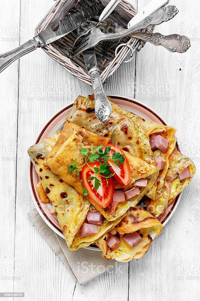 Pancakes for Shrove Tuesday stock photo