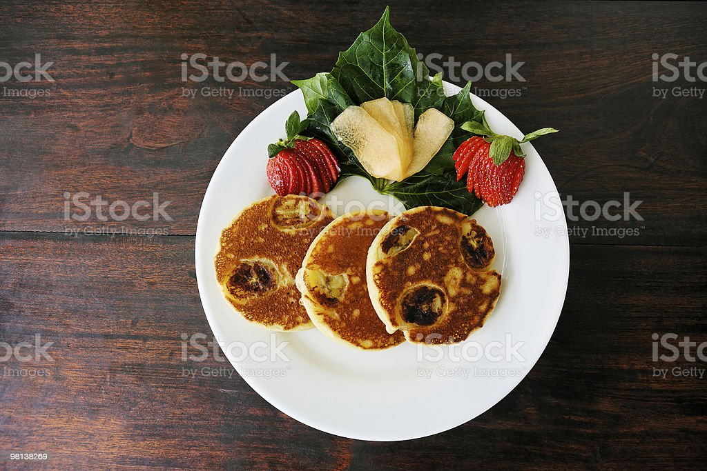 pancakes on a plate royalty-free stock photo