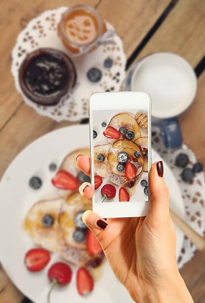 Pancakes on photo stock photo