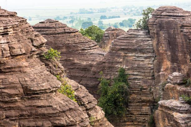 Pancakes rocks, Burkina Faso stock photo