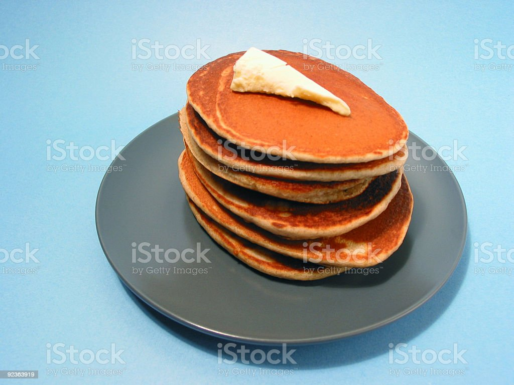Pancakes stack on a plate royalty-free stock photo