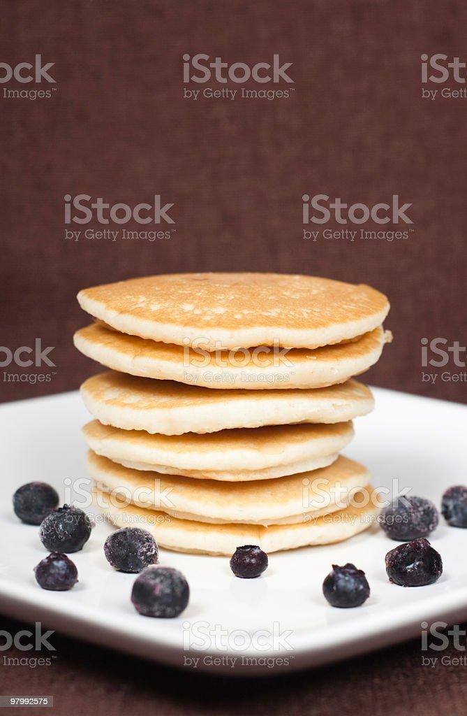 Pancakes with Blueberries royalty free stockfoto