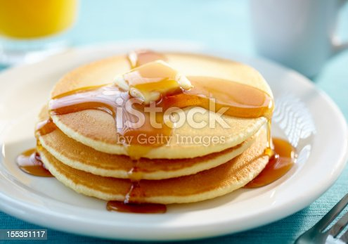 istock Pancakes with butter and syrup 155351117