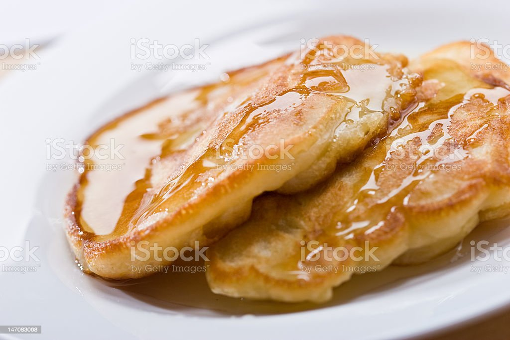 pancakes with honey royalty-free stock photo