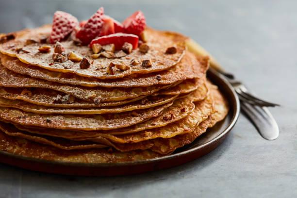 Pfannkuchen mit Erdbeere – Foto